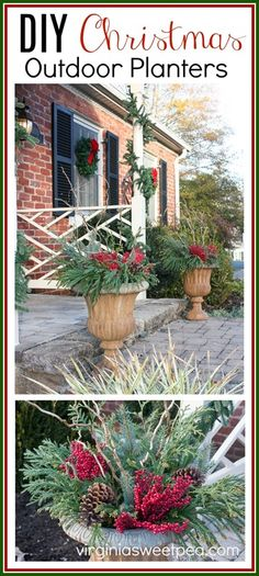 Why You Should Let Your Kids Make Their Own Christmas Decorations – Get Ready for Christmas Outdoor Christmas Planters, Diy Planters Outdoor, Outdoor Christmas Decorations, Decorating For Christmas Outdoors, Holiday Decorating, Outdoor Ideas, Outdoor Decor, Christmas Love, Christmas Crafts