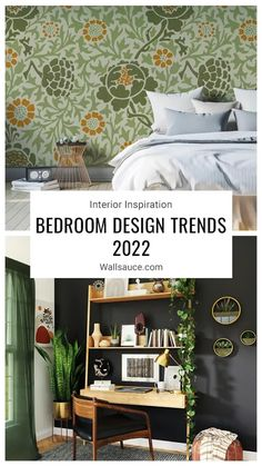 Need some stylish bedroom ideas to help you create a relaxing bedroom escape in your home? From dark bedrooms and colour schemes inspired by nature to nostalgic bedroom decor ideas and the return of wainscoting/wood panelling, these bedroom interior ideas are just what you need to get inspired for 2022! Read more on the Wallsauce.com blog