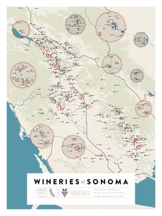 Over 1,200 California Wineries On Two Beautiful Maps #Sonoma #California #Wine @Stephanie McGuane @Judith Wenz @Jean May