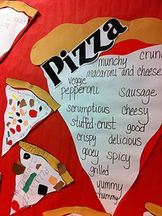 pizza adjectives..