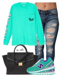 """""""⚗"""" by idontfxckwitchu ❤ liked on Polyvore featuring Victoria's Secret, Forever 21, New Balance, women's clothing, women, female, woman, misses and juniors"""