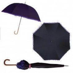Bombay Duck Pom Pom Umbrella - Black