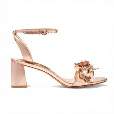 The Best Wedding Shoes for Every Bride's Style: SOPHIA WEBSTER Lilico appliqué metallic leather sandals. | Coveteur.com