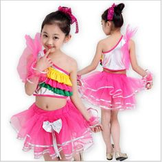 Cheap latin dance costumes, Buy Quality dance skirt directly from China dance costumes kids Suppliers: 2017 Girls Dress Children Latin Dance Costumes Kids Sweet Colorful tutu Primary School Performing Ballroom Dancing Skirt