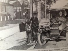 First roadside pump. thus making it Britain's first ever petrol station. Abbey Foregate, Shrewsbury, Shropshire