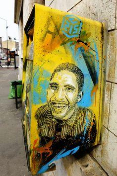 Vitry-sur-seine - cours de la gare - street art - c215