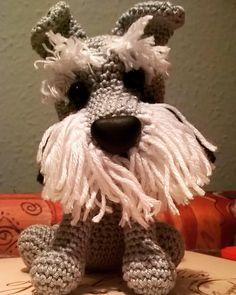 #schnauzer #croset #knitting #amigurumi by szabo_zollei_detti