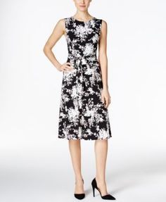 17fa9d40 Charter Club Floral-Print Fit & Flare Dress, Only at Macy's & Reviews -  Dresses - Women - Macy's