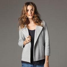 Cropped Pocket Cashmere Cardigan | The White Company