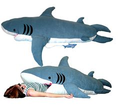 You'll be sleeping with the fishes with this Shark Sleeping Bag. This sleeping bag also works well as a body pillow or as the most threatening weapon you can wield in a pillow fight, and makes a cool gift to compliment shark week. Shark Pillow, Best Sleeping Bag, Sleeping Bags, Grandeur Nature, Shark Week, Shark Shark, Shark Bait, Kids Bags, Looks Cool