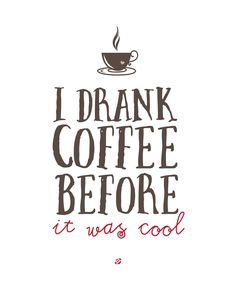 Coffee Cool Free printable Personal Use Only! #freeprintables #diy #freeprintable