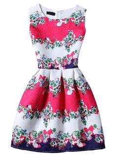 Shop Sleeveless Florals Jacquard A-Line Dress online. SheIn offers Sleeveless Florals Jacquard A-Line Dress & more to fit your fashionable needs.