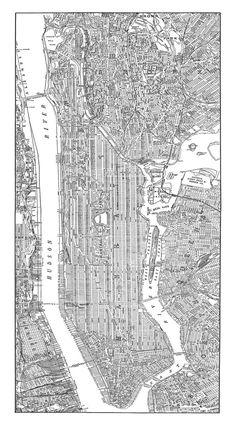 new york city map 1938 new york city manhattan by themapshop