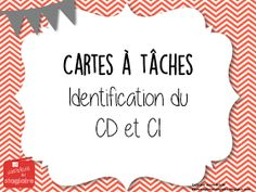 La Photocopieuse du Stagiaire: Complément direct ou indirect? Daily Math, French Resources, Cycle 3, Class Activities, Teaching French, 5th Grades, Future Classroom, Task Cards, Teacher Resources