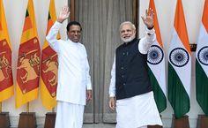 sri lankan president, narendra modi, meet narendra modi, maithripala sirisena, latest news,latest news getanews.com