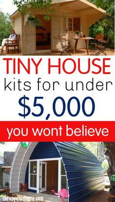 Cheap Tiny House Kits, Shed To Tiny House, Building A Tiny House, Tiny House Cabin, Tiny House Living, Tiny House Plans, Tiny House Design, House Floor Plans, Cheap Tiny Homes