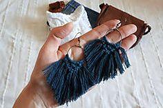 Macrame earrings peacock, tassel macrame earrings, fringe earrings Macrame Earrings, Fringe Earrings, Tassel Necklace, Peacock, Tassels, Boho, Jewelry, Fashion, Moda