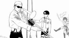 gif funny anime manga levi i cant snk shingeki no kyojin Mikasa Ackerman AOT attack on titan eren jaeger Eren Y Levi, Armin, Noragami, Aot Memes, Funny Memes, Aot Funny, Funny Gifs, Hilarious, Animé Romance
