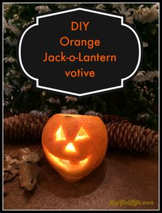 Carve up a cute orange Jack-o-lantern in less than a minute. | Big Girl Life Blog