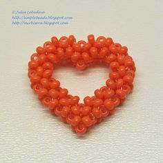 Beading for the very beginners: Beaded 3D heart in CRAW