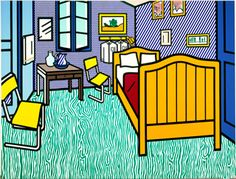 Bedroom at Arles - Roy Lichtenstein - Wikipedia, the free encyclopedia