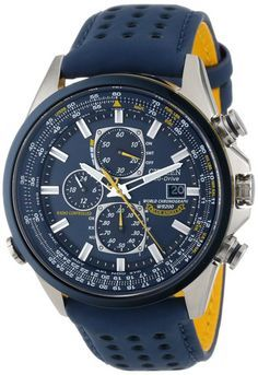 Citizen Eco-Drive Radio-Controlled Chronograph World Timer; Blue Angels edition…