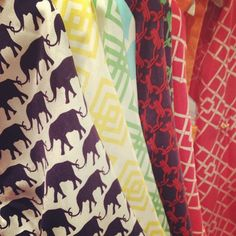 bright pattern scarves, i have a tunic w that elephant print, now i want the scarf!