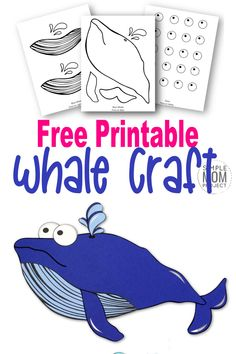 Looking for a fun summer craft or maybe a greeting card for Father's Day? Click now to print the free blue whale template and make this adorable blue whale craft. He is also the perfect whale to teach the bible lesson of Jonah and the Whale! #BlueWhaleCrafts #WhaleCrafts #OceanAnimalCrafts #OceanAnimals #SimpleMomProject Sea Animal Crafts, Whale Crafts, Ocean Crafts, Animal Crafts For Kids, Crafts For Kids To Make, Toddler Crafts, Sun Crafts, Toddler Art, Kids Crafts