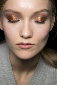 copper eye shadow! pretty J. Mendel Beauty A/W '13