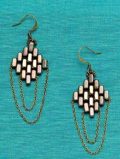 Coachella Earrings; Melinda Barta; Quick & Easy Beadwork, 2014 | InterweaveStore.com