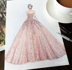 Ideas Fashion Art Illustration Dresses Beautiful For 2019 Fashion Illustration Sketches, Illustration Mode, Fashion Sketches, Dress Design Sketches, Fashion Design Drawings, Drawing Fashion, Wedding Dress Sketches, Vetement Fashion, Fashion Figures