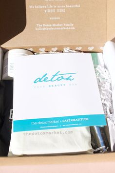 "Inside The Detox Market's ""Detox Your Beauty"" Box. http://beautyeditor.ca/2016/06/28/detox-market-beauty-box"