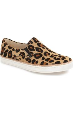 Leopard-spotted calf hair is a bold, exotic update to this comfy sneaker by UGG…