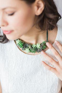 Collier de déclaration Succulente bijoux par PassionflowerMade