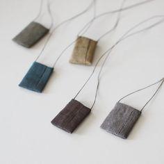 Tadashi Maruyama Japanese Amulet Pouch Obi Textile Necklace 02 | UGUiSU Online Store