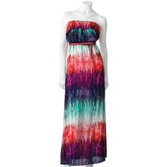 This would look great with a denim jacket over the top and some fun sandals! Trixxi Challis Strapless Maxi Dress - Juniors