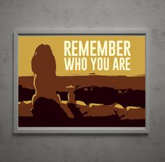 Lion King 18x12 Poster Remember Who You Are by RedFeatherCreative, $12.00