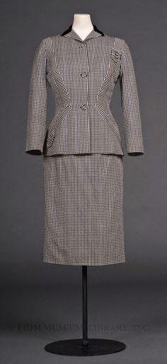 Day Suit  Date:  c. 1946–1948  Designer:  Adrian, Gilbert