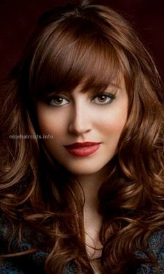 Brown hair colors 2015 1 ⋆ Gorgeous 50 shades of brown hair color Ideas for 2015, Long golden brown hairstyle with bangs  http://www.nicehaircuts.info/2017/05/23/brown-hair-colors-2015-1-%E2%8B%86-gorgeous/