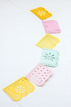 DIY Papel Picado @Natalie S maybe I need a cricut to make this pretty garland for a special occasion? :)