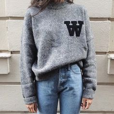 Love a good marled grey sweatshirt // #minimalist style is always the best look // the every girl