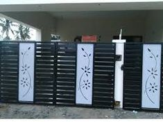 Image result for cnc cutting gate designs Tree Design On Wall, Gate Wall Design, Grill Gate Design, House Main Gates Design, Steel Gate Design, Front Gate Design, House Front Design, Door Design, Compound Gate Design