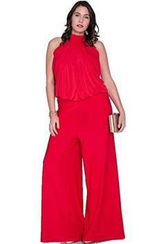 e5f83004833b Nyteez Women s Plus Size High Neck Wide Leg Jumpsuit Plus Size Women