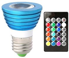 Gifts for Teens: Color Changing LED Light Bulb with Remote @ Amazon