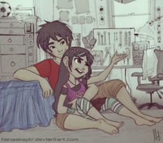 Big Hero 6 and Wreck-It Ralph crossover! Older Hiro and Vanellope! I had no idea how much I needed this until now. Big Hero 6 and Wreck-It Ralph crossover! Older Hiro and Vanellope! Disney Pixar, Disney Animation, Disney Ships, Disney Memes, Disney Fan Art, Disney And Dreamworks, Couple Disney, Disney Couples, Disney Dream
