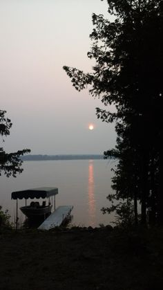 Beautiful reddish sunset, due to Canadian smoke, in the Walker area this evening from Doug Zuehlsdorff.