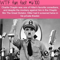 Charlie Chaplin and Hitler - WTF fun fact