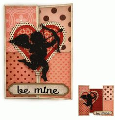 Silhouette Design Store: be mine double bi fold valentine a7 card by Snapdragon Snippets