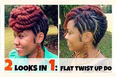 @naturallymichy | Flat Twist Updo Hairstyles