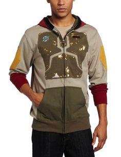 Star Wars Men's Darker Boba Fleece Hoodie, Multi-Colored, Small  $59.95